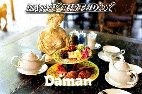 Happy Birthday Daman Cake Image
