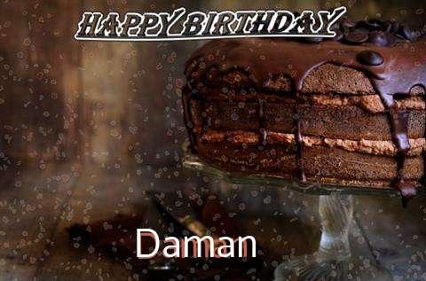 Happy Birthday Cake for Daman