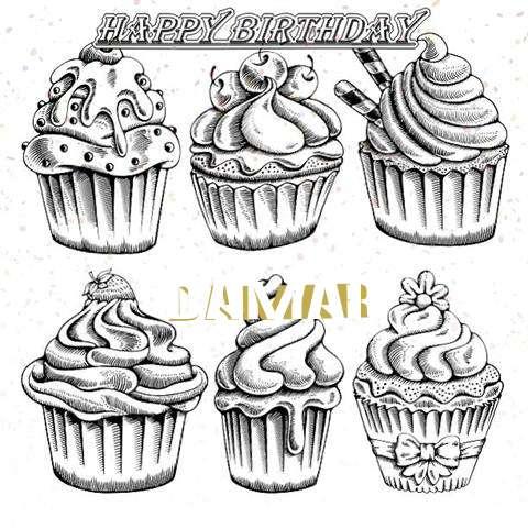 Happy Birthday Cake for Damar