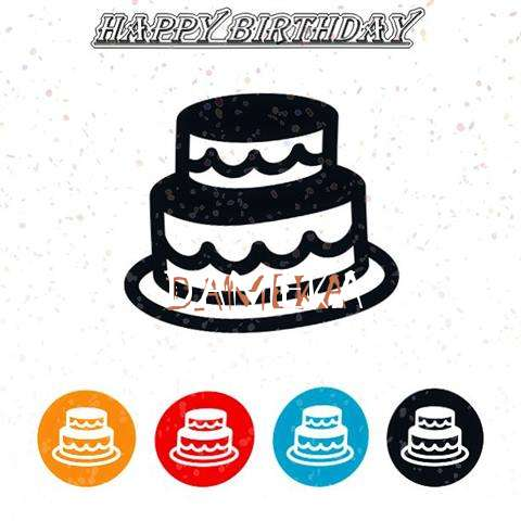Happy Birthday Dameka Cake Image