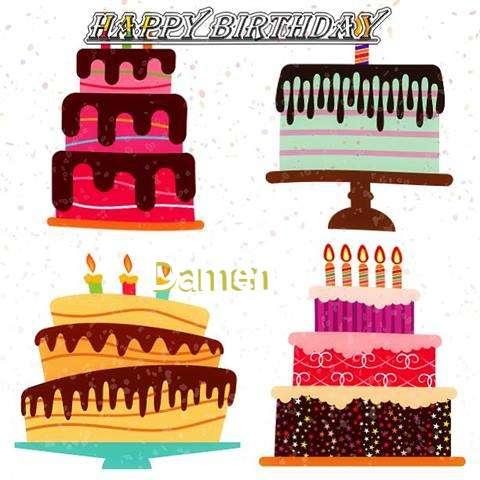 Happy Birthday Damen Cake Image