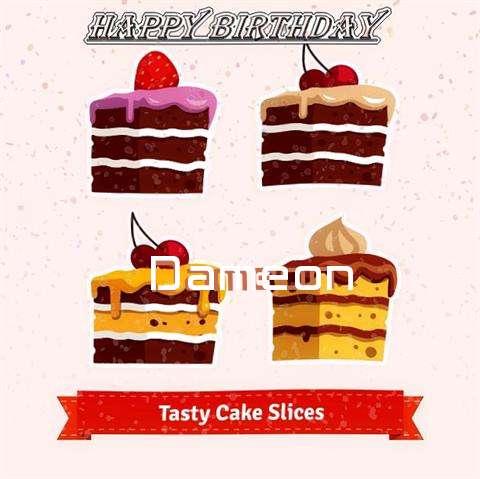 Happy Birthday Dameon Cake Image