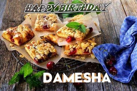 Happy Birthday Cake for Damesha