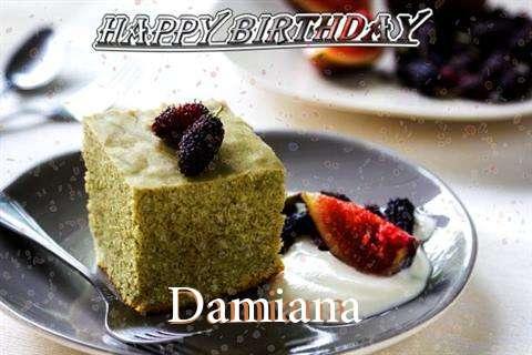 Happy Birthday Damiana Cake Image