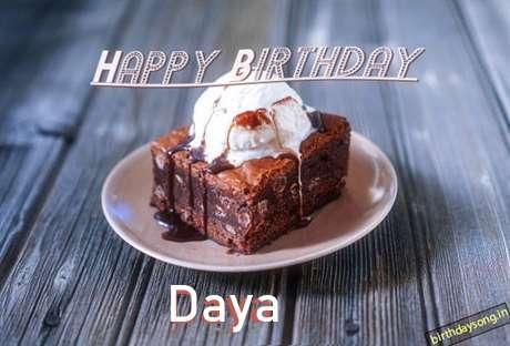 Happy Birthday Daya Cake Image