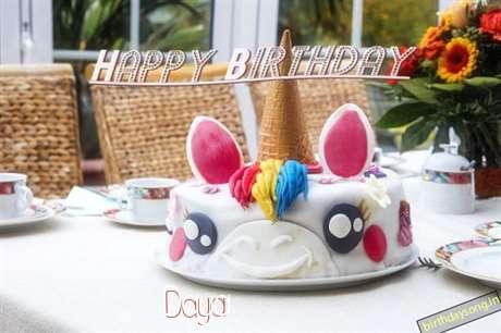 Happy Birthday Cake for Daya