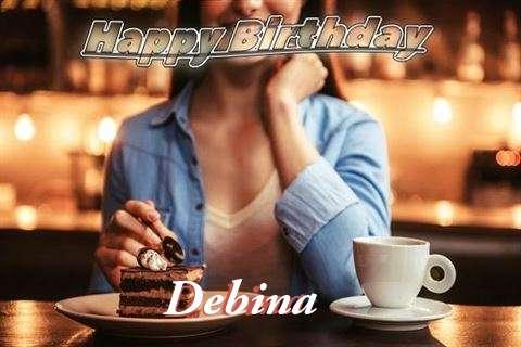 Happy Birthday Cake for Debina