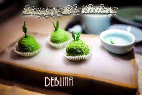 Happy Birthday Deblina Cake Image