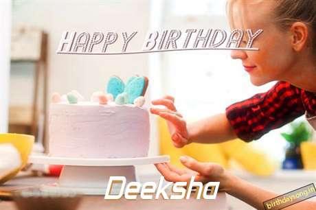 Happy Birthday Deeksha Cake Image