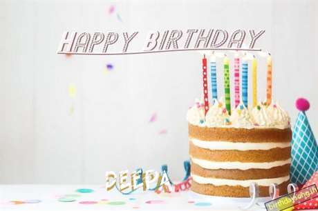 Happy Birthday Deepa Cake Image