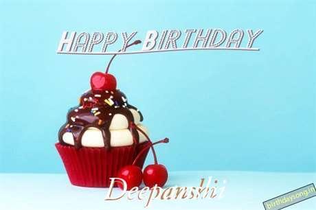 Happy Birthday Deepanshi Cake Image