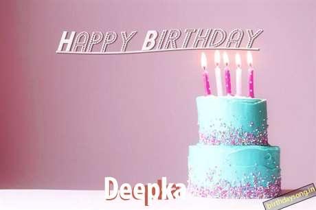 Happy Birthday Cake for Deepka