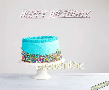 Happy Birthday Deepshikha Cake Image
