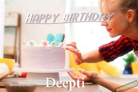 Happy Birthday Deepti Cake Image