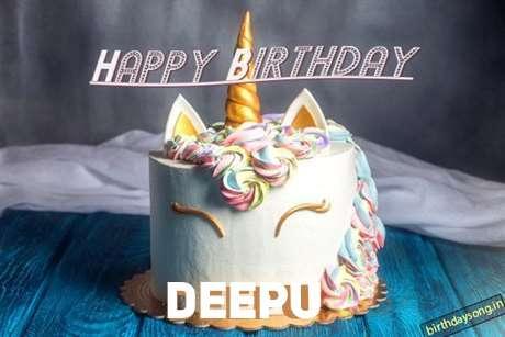 Happy Birthday Cake for Deepu