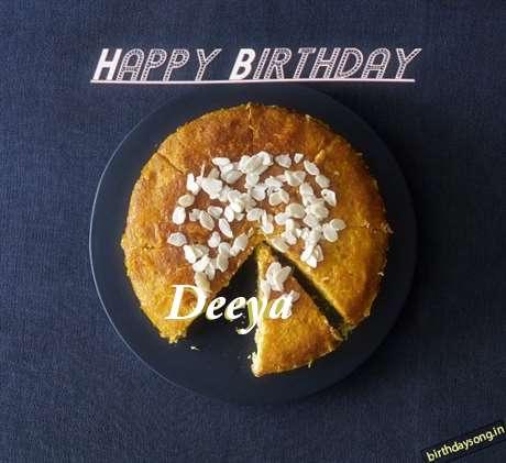 Happy Birthday Deeya Cake Image