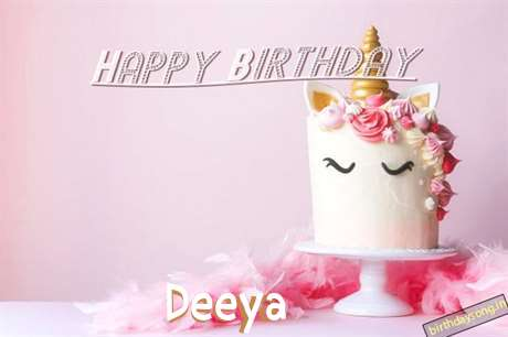 Happy Birthday Cake for Deeya