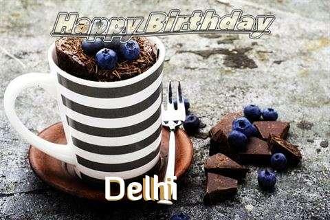 Happy Birthday Delhi Cake Image