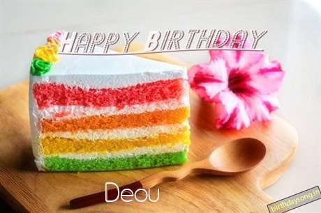 Happy Birthday Deou Cake Image