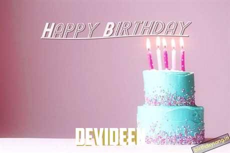 Happy Birthday Cake for Devideen