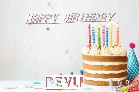 Happy Birthday Devli Cake Image