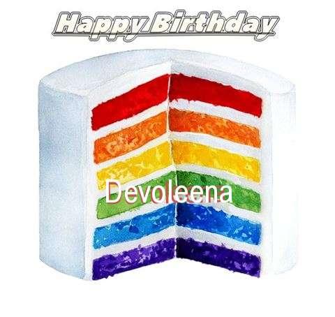 Happy Birthday Devoleena Cake Image