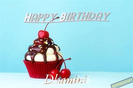 Happy Birthday Dhamini Cake Image