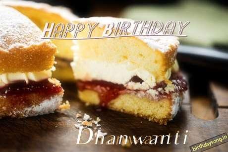 Happy Birthday Dhanwanti Cake Image