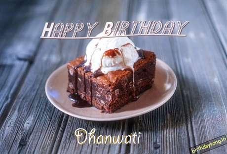 Happy Birthday Dhanwati Cake Image