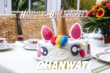 Happy Birthday Cake for Dhanwati
