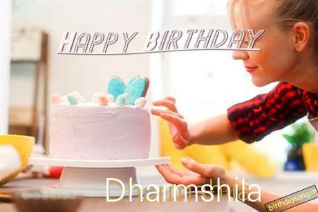 Happy Birthday Dharmshila Cake Image
