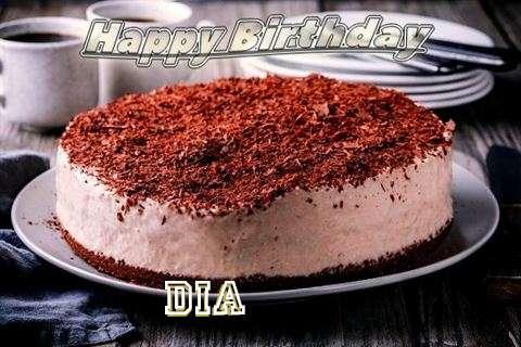 Happy Birthday Cake for Dia