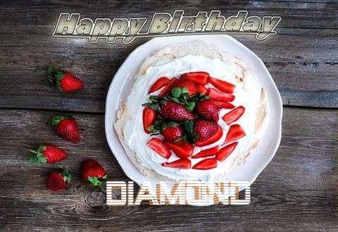 Happy Birthday Diamond Cake Image