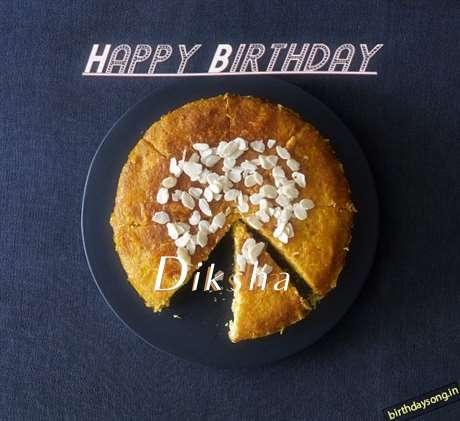 Happy Birthday Diksha Cake Image