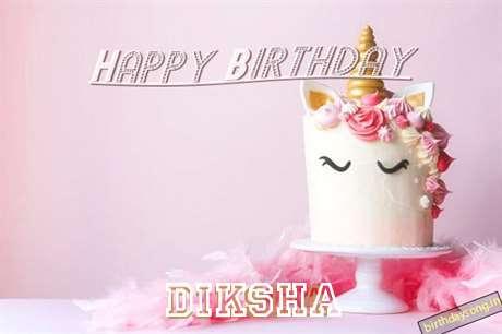 Happy Birthday Cake for Diksha