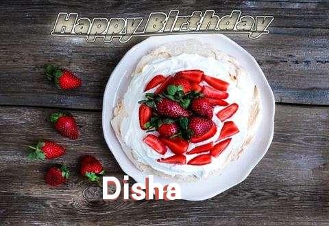 Happy Birthday Disha Cake Image