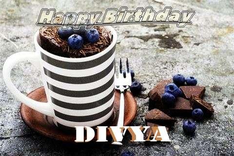 Happy Birthday Divya Cake Image