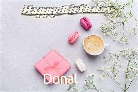 Happy Birthday Donal Cake Image