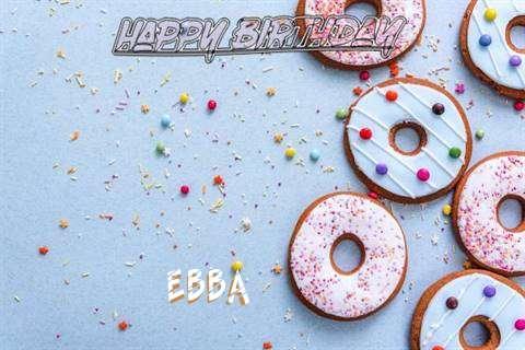 Happy Birthday Ebba Cake Image