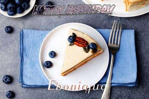Happy Birthday Ebonique Cake Image