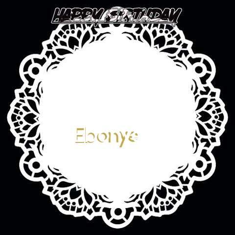 Happy Birthday Ebonye Cake Image