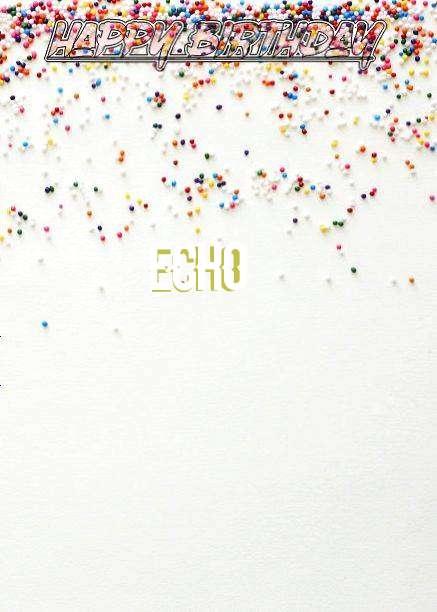 Happy Birthday Echo