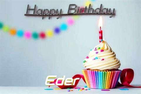 Happy Birthday Eder Cake Image