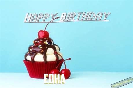 Happy Birthday Edha Cake Image