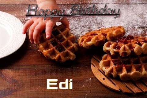 Happy Birthday Wishes for Edi