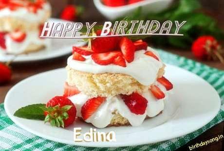 Happy Birthday Edina Cake Image