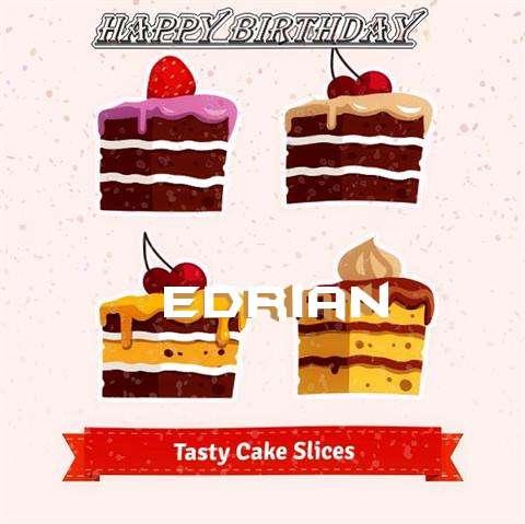 Happy Birthday Edrian Cake Image