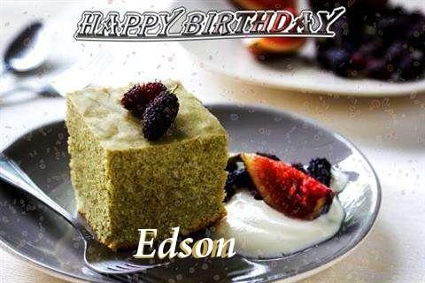 Happy Birthday Edson Cake Image