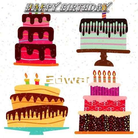 Happy Birthday Edwar Cake Image