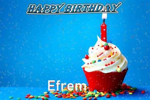 Happy Birthday Wishes for Efrem